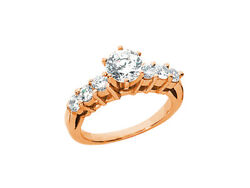 Genuine 1.40ct Round Diamond Open Gallery Engagement Ring Solid 18k Gold G Si1