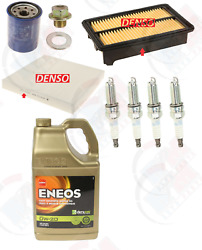 Tune Up Kit With 5qts Eneos 0w-20 Oil Fits Honda Civic Si And Acura Ilx 2.4l