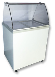 Select 30 Curved Glass Sneeze Rail Dipping Cabinet Temp Range 7andordmf / -10andordmf R290