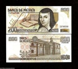 Mexico 200 Pesos P-114 2000 Replacement Commemorative Unc 75 Any. Quill Pen Note