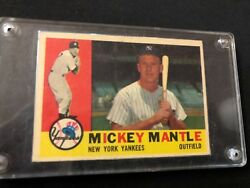 1960 Topps Mickey Mantle New York Yankees #350 Baseball Card