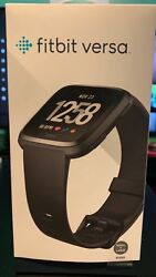 Fitbit Versa New And Used Black Small/large Bands Included Original Box