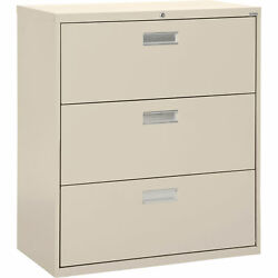 Sandusky LF6A423-07 3-Drawer Lateral File Cabinet 42inW x 19 14inD x 40 78inH