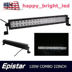 22inch 120w Led Light Bar Flood Spot Combo Work Lamp Offroad 4wd Truck Slim Ford