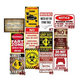 Do Not Disturb Retro Metal Tin Signs Plate Keep Out Gamers Only Art Wall Decor