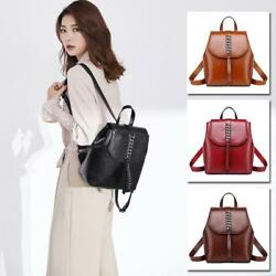 Real Leather Small Mini Backpack Rucksack Daypack Travel bag Purse Bag Satchel Y