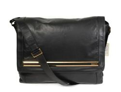 $7200 NWT ZILLI Gregory Black Leather Crossbody Shoulder Large Messenger Bag