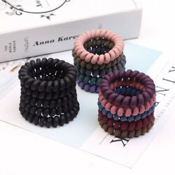 Concise Rubber Telephone Wire Hair Ties Hair Head Elastic Bands Spiral Slinky