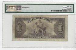 1935 Osb/tow Canada 100 Note Pmg Vf-25 Sn A13647 English