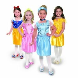 Disney Princess Girls fancy Dress- 21 Piece Set Sizes 4 Halloween Party Costume