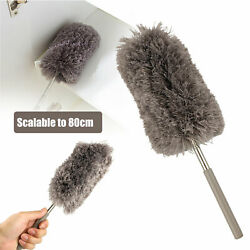 Adjustable Soft Microfiber Feather Duster Dusting Brush Household Cleaning Tool