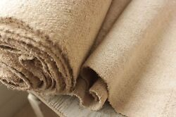Stair Runner Or Upholstery Fabric Antique Natural Hemp 14 Yards By 25 Wide Rare