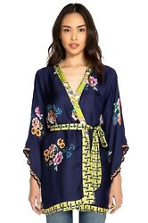 Johnny Was Zuki Printed Silk Kimono - C45918-d Retail 298.00