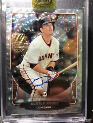 2017 Topps Archives 2013 Bowman Diamond 1/1 Buster Posey Auto 1/1 Buy Back