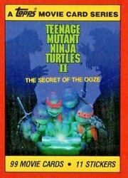 Teenage Mutant Ninja Turtles 2 Base / Basic Cards Or Stickers By Topps 1991