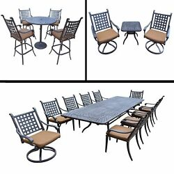 Sunbrella Cushioned Set includes 11 Pc Dining Set with Extendable Table 5 Pc