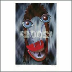 David Bowie 2001 Signed Ziggy 2002 Limited Edition Lithograph 524/2002 Uk