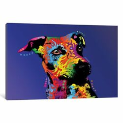 iCanvas Rainbow Jack Russell Terrier by Michael Tompsett Canvas Print