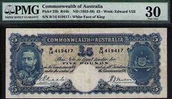 Commonwealth Of Australia Nd1933 Andpound5 Keviii Pmg Certified Vf30 R44b Pick 23b