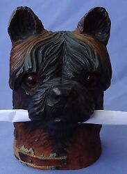 ANTIQUE BLACK FOREST WEST HIGHLAND CAIRN NORWICH TERRIER INKWELL DOG 5