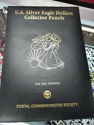 U.S Silver Eagle Dollars Collector Panel 25oz Of Fine SilverYears Of History.