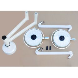 MIL LED Operating Lamp Dual Heads Ceiling Mount Cold Light Veterinary Surgery