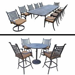 11 Pc Dining Set with Extendable Table and 5 Pc Bar Set