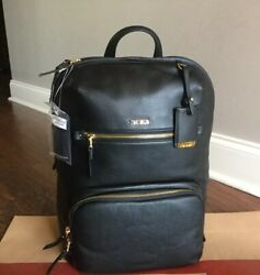 Tumi Voyageur Halle Leather Women's Backpack 96068 Black $445
