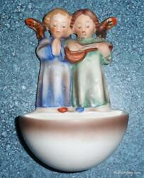Angel Duet Holy Water Font 146 From Goebel Hummel Tmk2 Incised Full Bee Rare