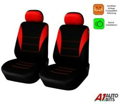 For Peugeot Partner Expert Boxer Fabric Red Black 11 Front Seat Covers