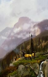 Michael Coleman After The Storm Elk Limited Edition Giclee Canvas A.p New