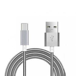 Metal Braided 6ft Long Type-c Usb Cable Charger Power Sync Usb-c Phone Wire Cord
