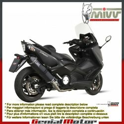 Mivv Complete Exhaust Speed Edge Black Steel For Yamaha T-max 530 2012 2016