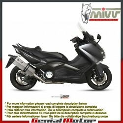 Mivv Complete Exhaust Speed Edge Stainless Steel Yamaha T-max 530 2012 2016