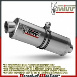 Mivv Approved Exhaust Mufflers Oval Stainless Steel Kawasaki Z 1000 2007 2009