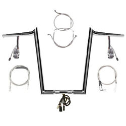 1 1/4 Chrome 16 Prewired Hooked Bar Kit 1996-2006 Harley Road King Nocruis