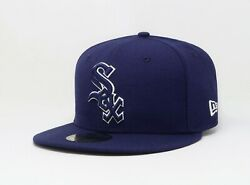 New Era Hat 59Fifty MLB Chicago White Sox Mens 5950 Royal Blue Custom Fitted Cap