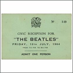 The Beatles Hard Dayand039s Night Civic Reception Complete Ticket Uk