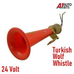 Wolf Whistle Red Airhorn High Pitched Air Horn 24 Volt