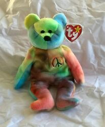 Vintage 1996 Ty Beanie Baby Peace Plush Toy Collectible With Tag, Mint Condition