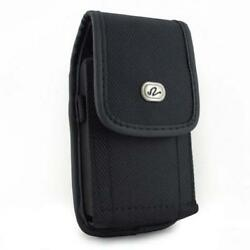 Heavy Duty Rugged Canvas Case Cargo Belt Clip Cover Holster J23 For Cell Phones