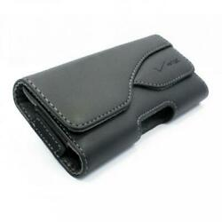 Verizon Oem Leather Pouch Side Cell Phone Case Cover Holster Swivel Belt Clip