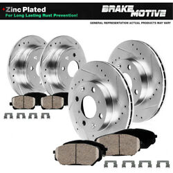 Front Rear Rotors & Ceramic Pads For 2005- 2007 FORD FOCUS LX SE ZTS ZTW ZX3 ZX5