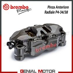 Radial Rear Brake Caliper Brembo Racing Left Monobloc Cnc P4-34/38 Without Pad