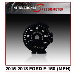 Speedometer Faceplate Fits A 2015 To 2018 Ford F-150 Mph X50pcs.