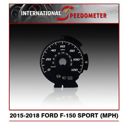 Speedometer Faceplate Fits A 2015 To 2018 Ford F-150 Sport Mph X50pcs.