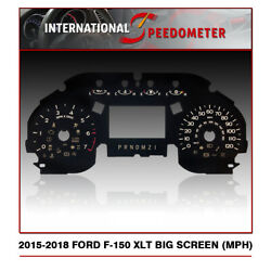 Speedometer Faceplate Fits A 2015 To 2018 Ford F-150 Xlt Mph X50pcs.