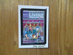2004 WACKY PACKAGES ANS1 1ST SERIES MARTHA SKEWERED CARD 35 SIGNED JAY LYNCH ART