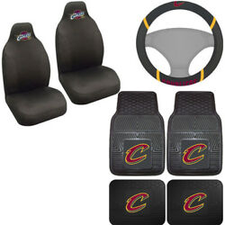 7pc Set Nba Cleveland Cavaliers Seat Covers Floor Mats And Steering Wheel Cover ..