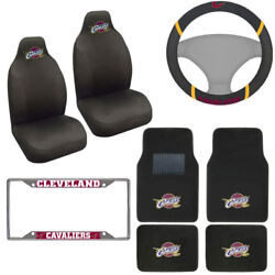 8pc Nba Cleveland Cavaliers Car Truck Seat Covers Floor Mat Steering Wheel Cover